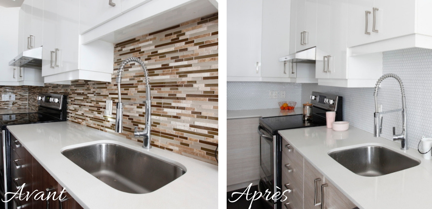 Smart Tiles backsplash relooking credence avec tuiles autoadhésives