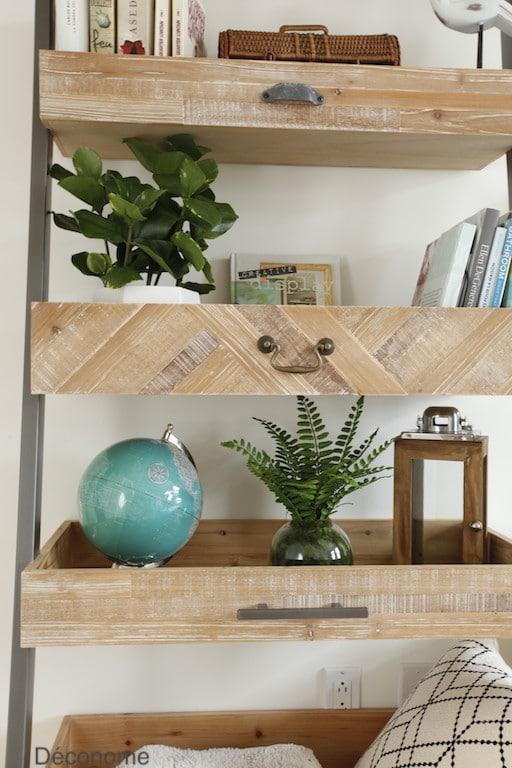 étagère en bois recyclé / recycled wood and metal shelves