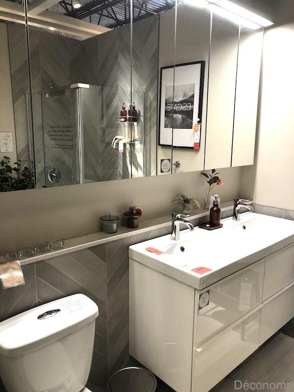 muret tablette salle de bain