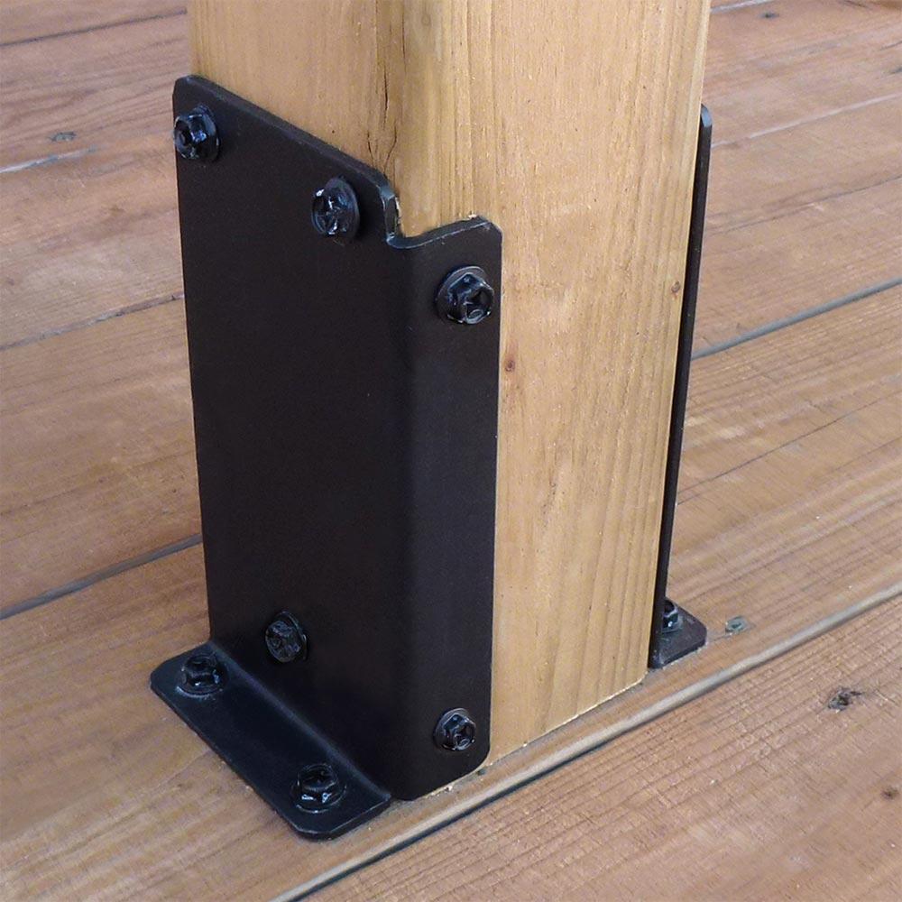 base de poteau pour pergola en bois