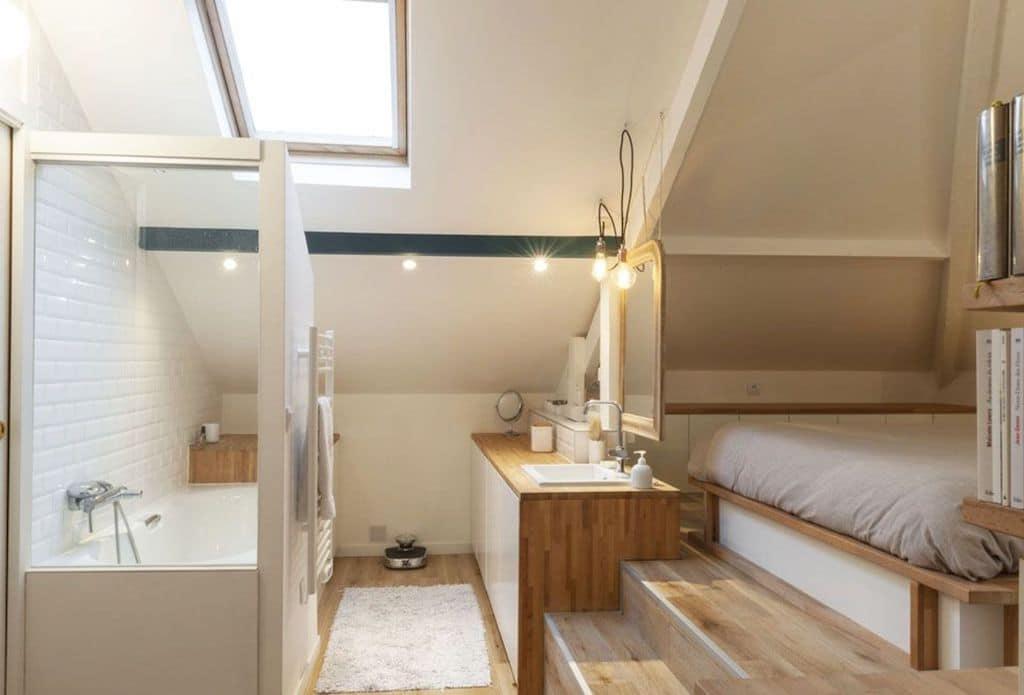 8 conseils pour créer une salle de bain ouverte sur la chambre ...
