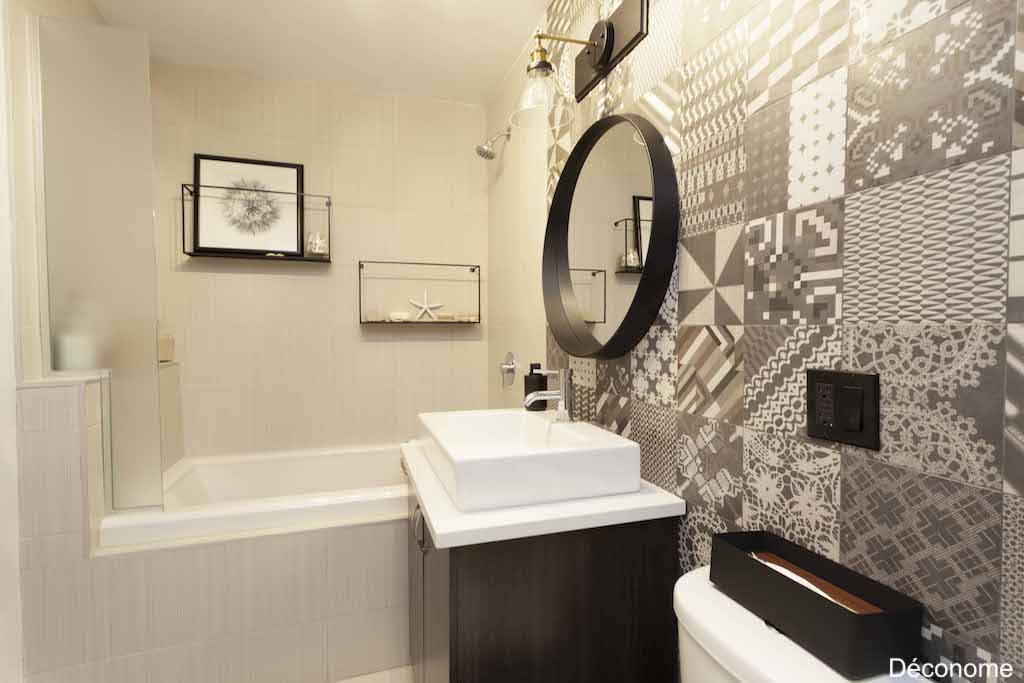 transformation salle de bain carreaux Azulej Patricia Urquiola pour Mutina