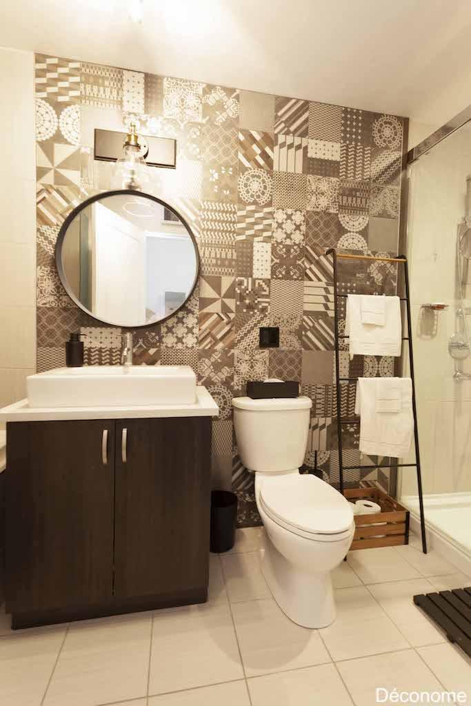 salle de bain mur de carreaux Mutina Azulej Patricia Urquiola