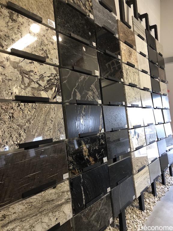 comptoires de granite et quartzite