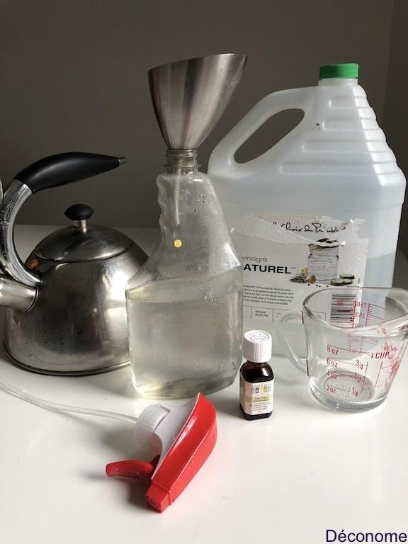 fabriquer un produit écologique pour le nettoyage de la douche