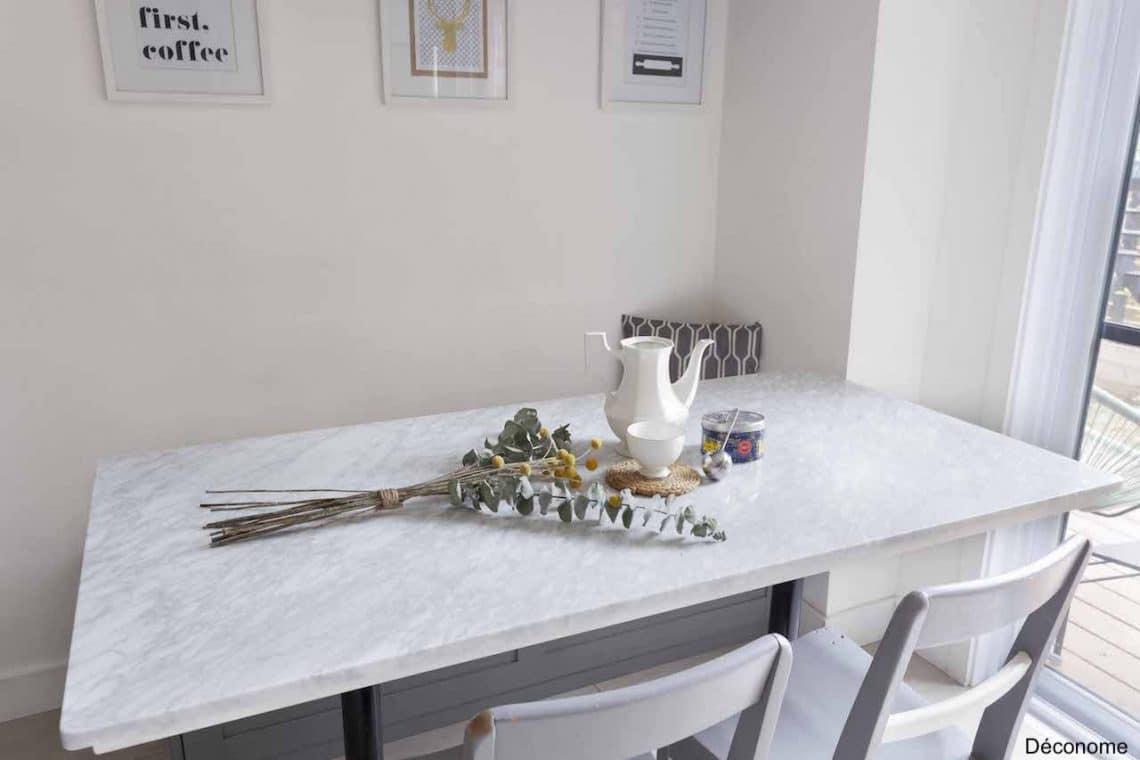 fabriquer une table bistro en marbre