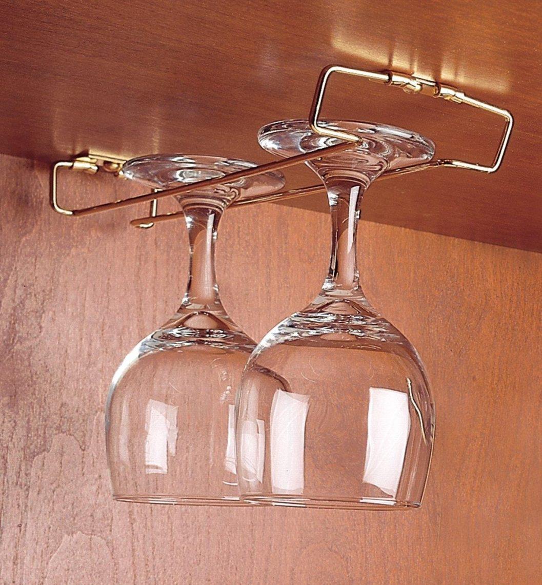 support à verres de vin sous étagère