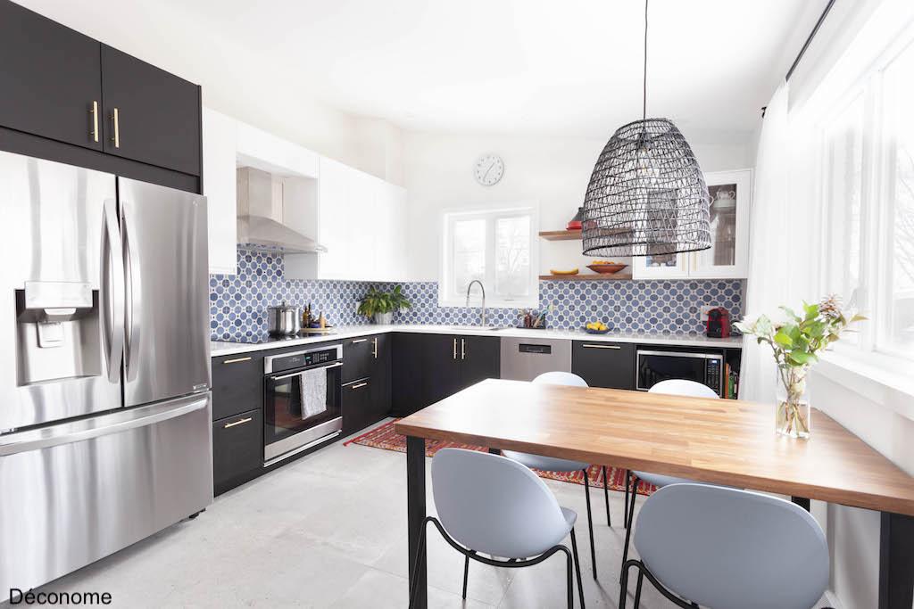 cuisine ikea noir et blanc style ethnique chic
