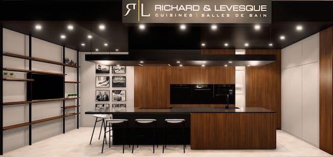 Richard et Lévesque cuisine noyer et noir