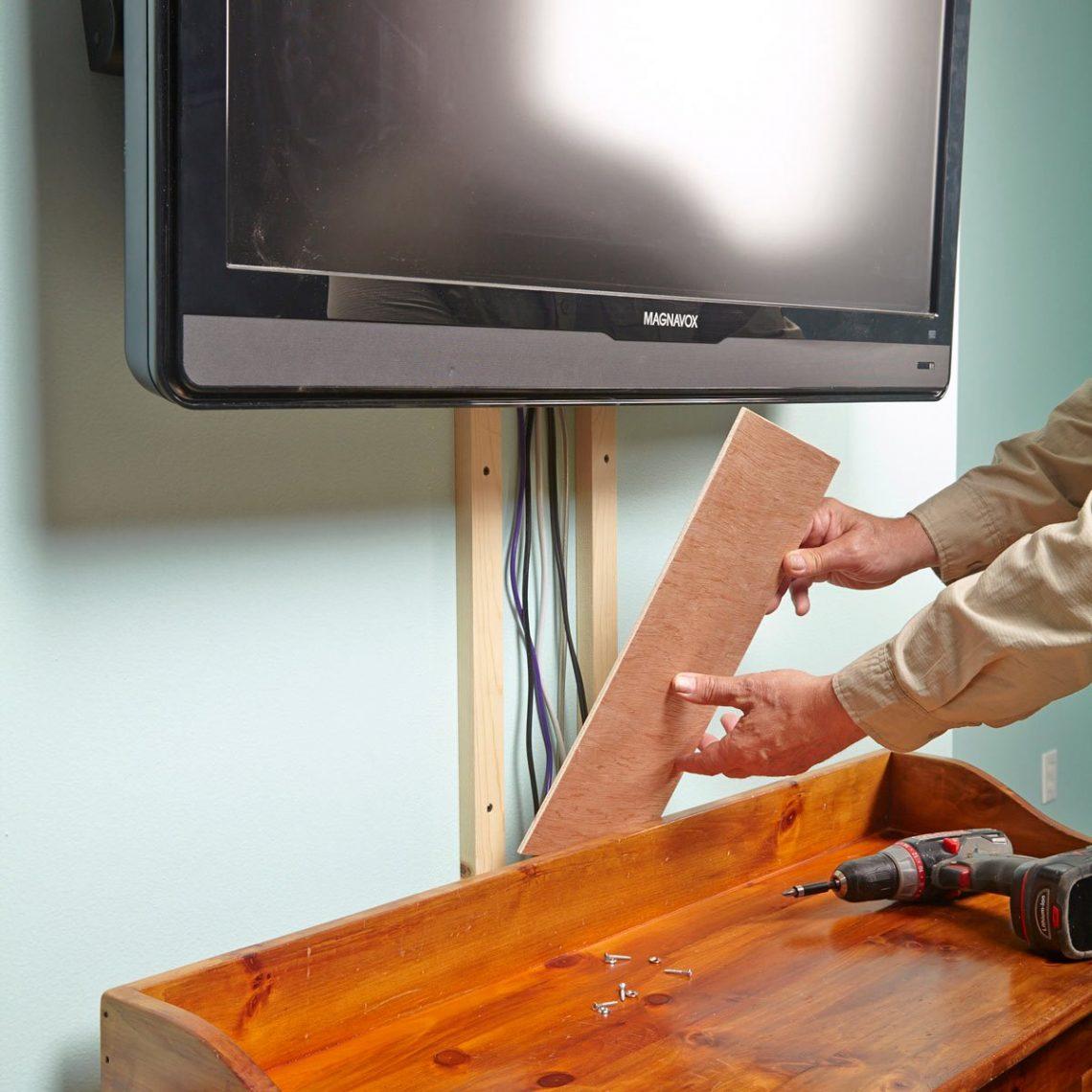 Solution pour cacher les fils d'une télévision murale