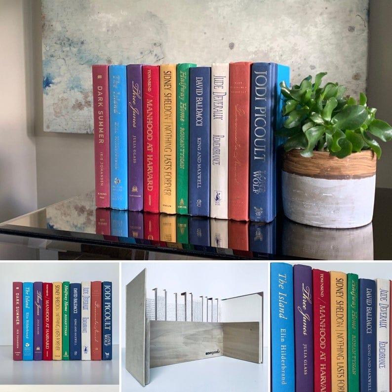 DIY fausses façades de livres pour créer une boite qui cache les fils électriques ou les appareils électroniques