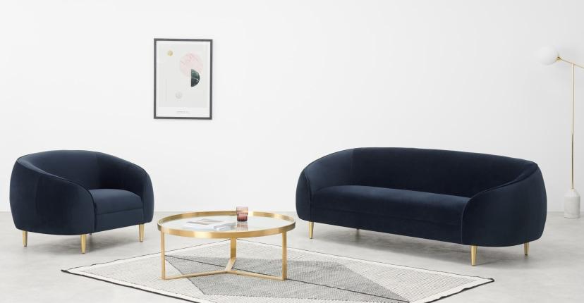 Tendance déco 2020 mobilier arrondi et courbe / round furniture Decor Trend 2020