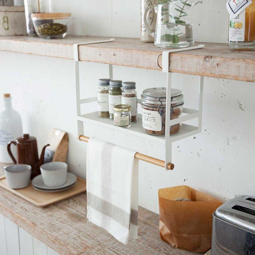 étagère à épices qui se clipe sous une autre étagère