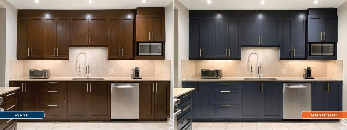 Spray Net peinture d'armoires de cuisine