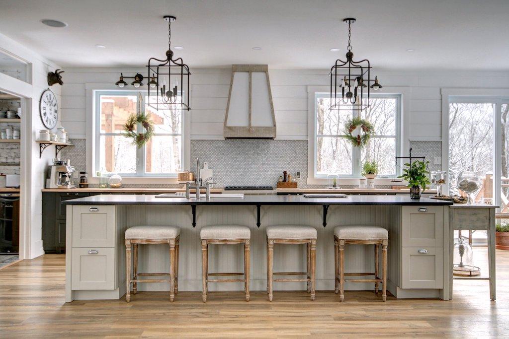 cuisine IKEA repeinte style farmhouse