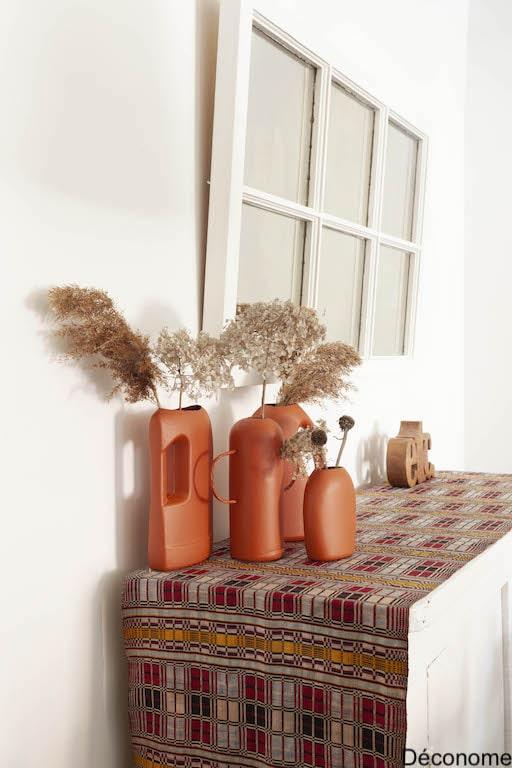 vases terra cotta tendance bouteilles de plastique