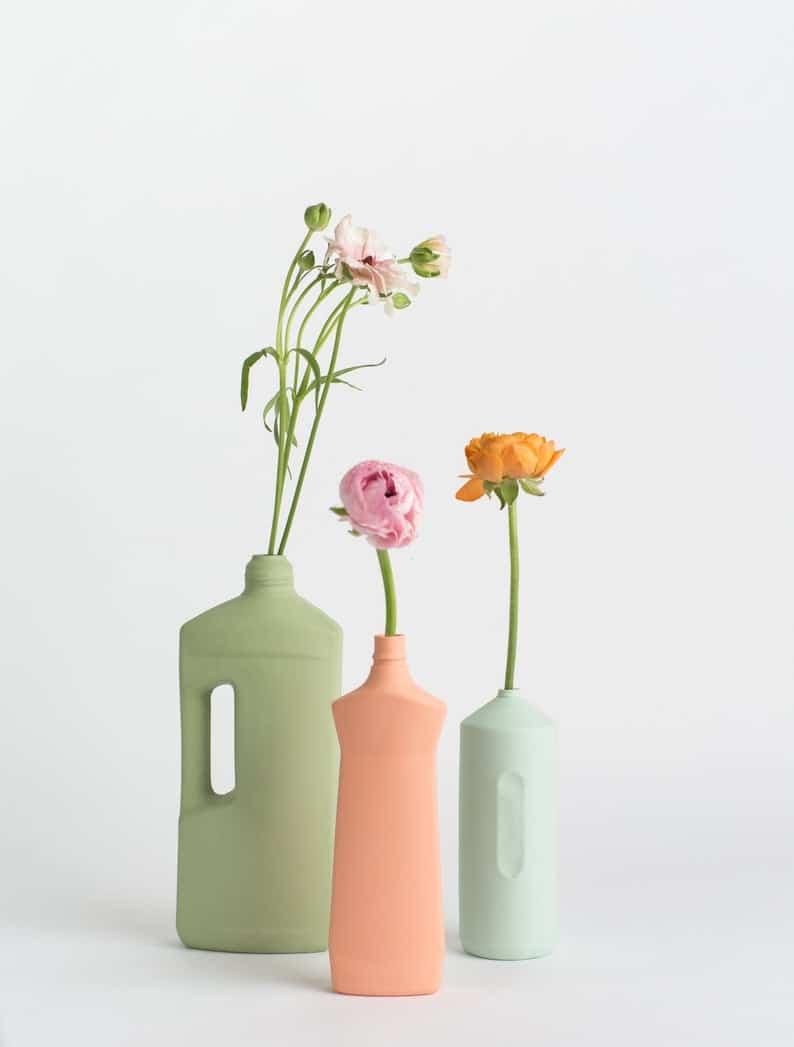 Vase Foekje Fleur bouteille plastique