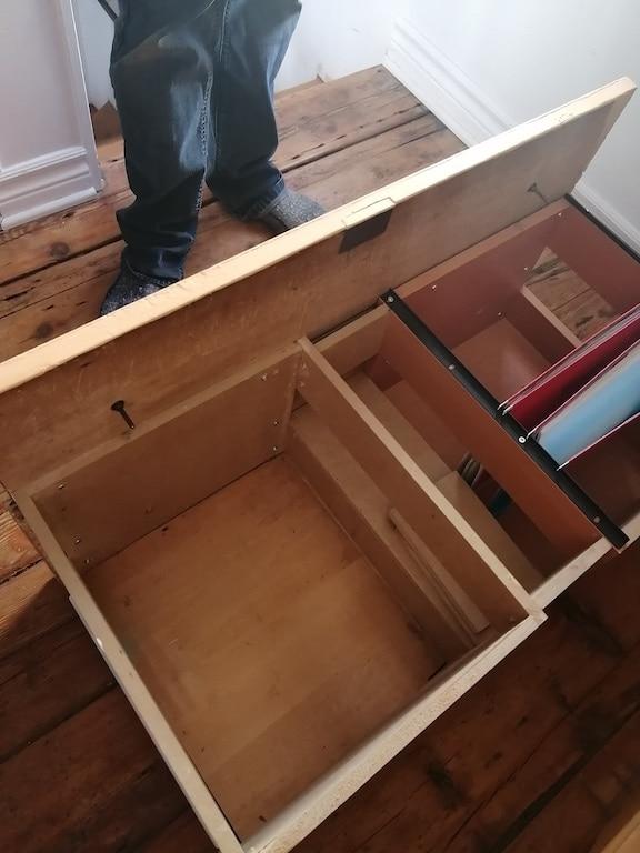 Fabrication d'un meuble classeur à partir d'une commode