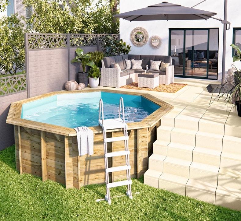 mini piscine hors sol en bois pas chère