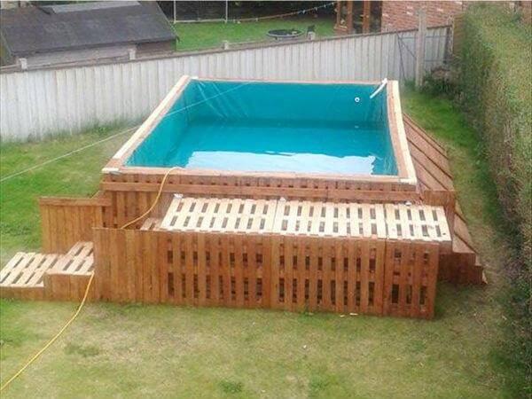 mini piscine en palettes