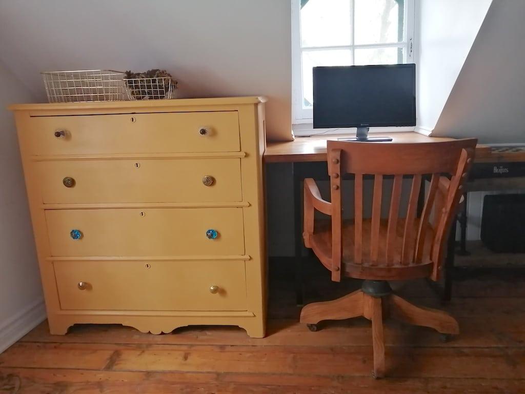 transformer vieille commode en meuble imprimante et meuble classeur