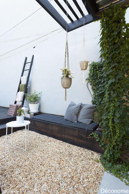 banquette de jardin DIY