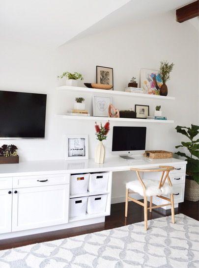 Bureau à la maison - mobilier télé intégré