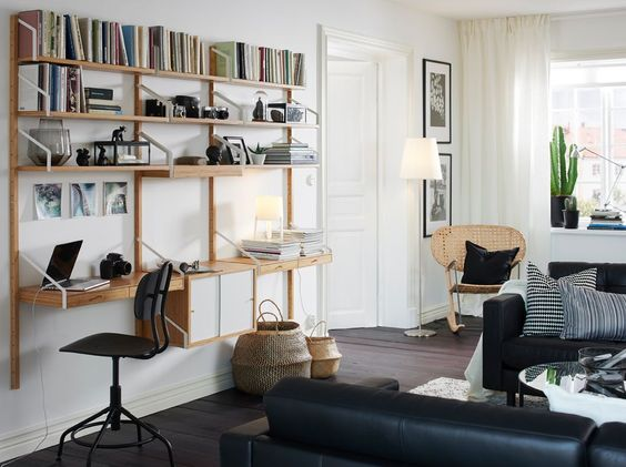 systèmes modulaires d'étagères murales  SVALNÄS de IKEA