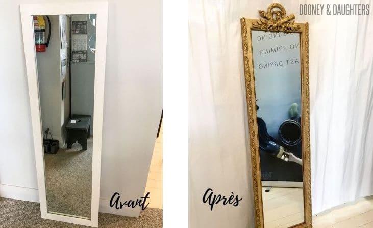 cire a dorer miroir transformation pas chère