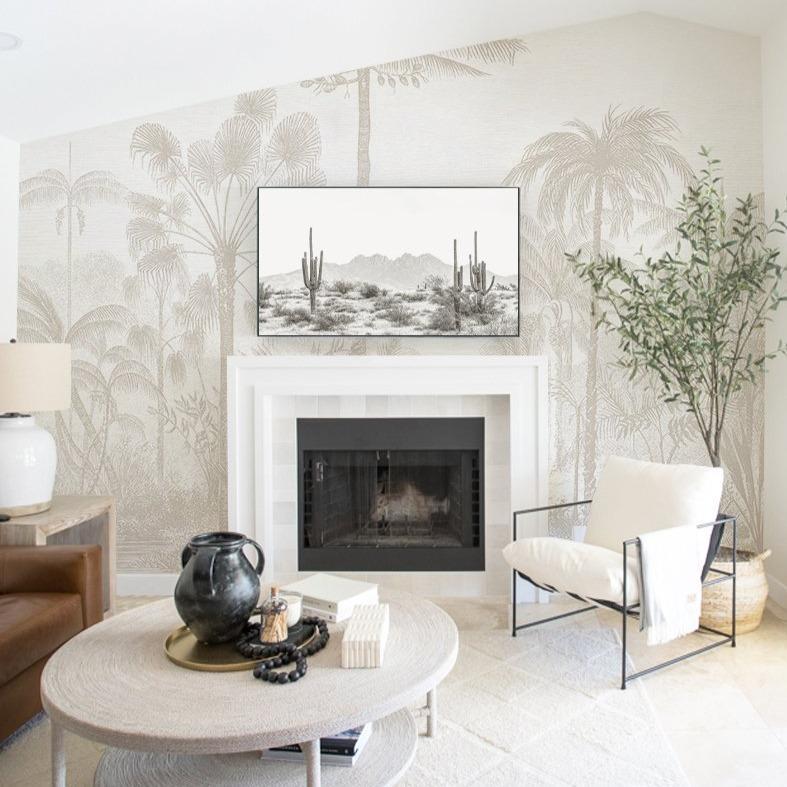 murale noir et blanc panoramique pas chère