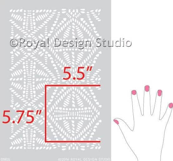 pochoir de style batik tribal Royal Design Studio Stencils