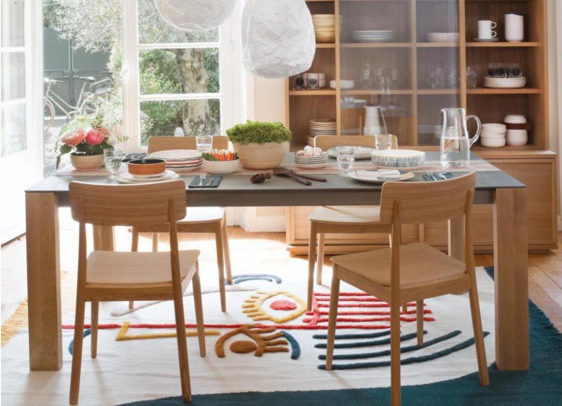 table salle à manger en bois style scandinave Habitat
