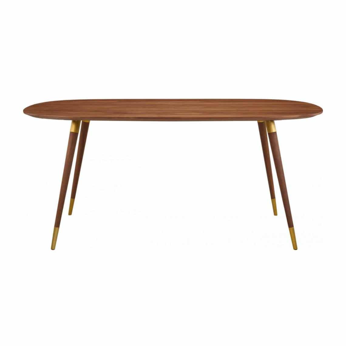 table salle à manger ovale style mid century