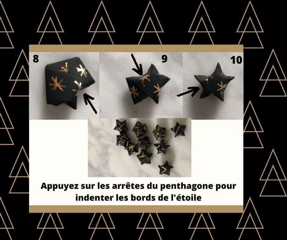 etape lucky star origami étoile