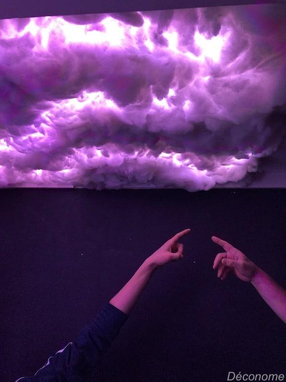 plafond nuage LED