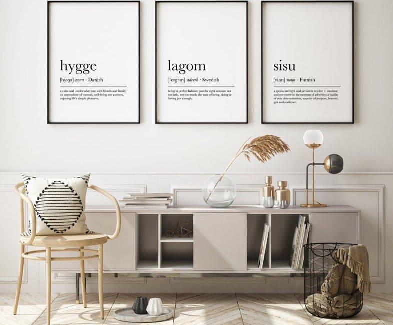 Affiches lagom sisu Hygge
