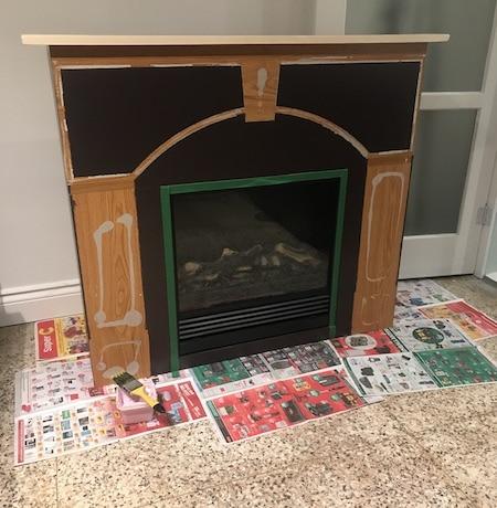 foyer électrique relooké - DIY