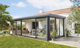 style véranda maison toit plat