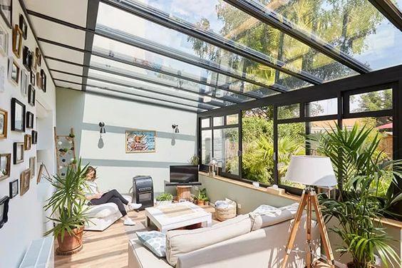 veranda style verrière industrielle