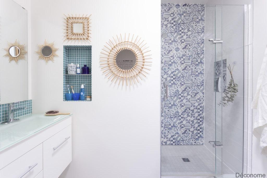 fuite douche italienne refaite avec carreaux mélangés cassés