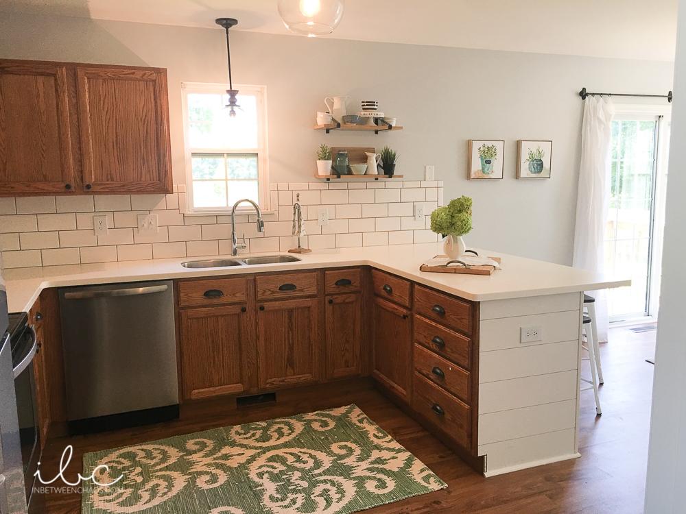 Comment transformer une cuisine avec des vieilles armoires de cuisine en chêne