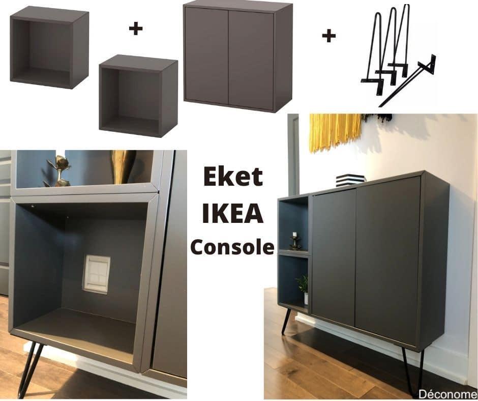IKEA hack Eket console avec des hairpin legs