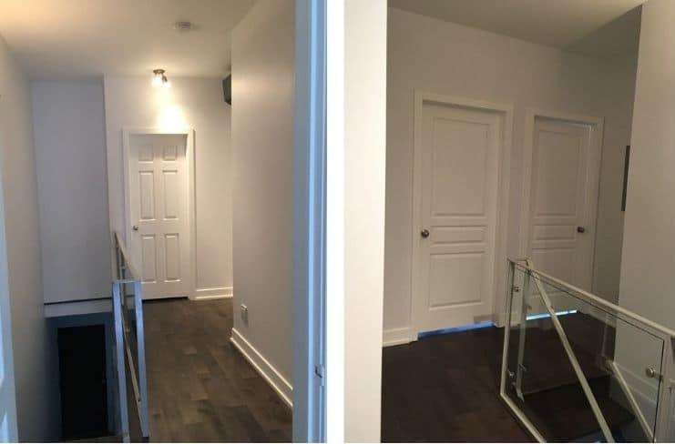 comment décorer un couloir blanc et fade ? Photo avant