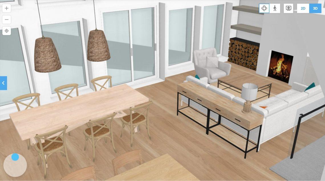 floorplanner plan de chalet 3D