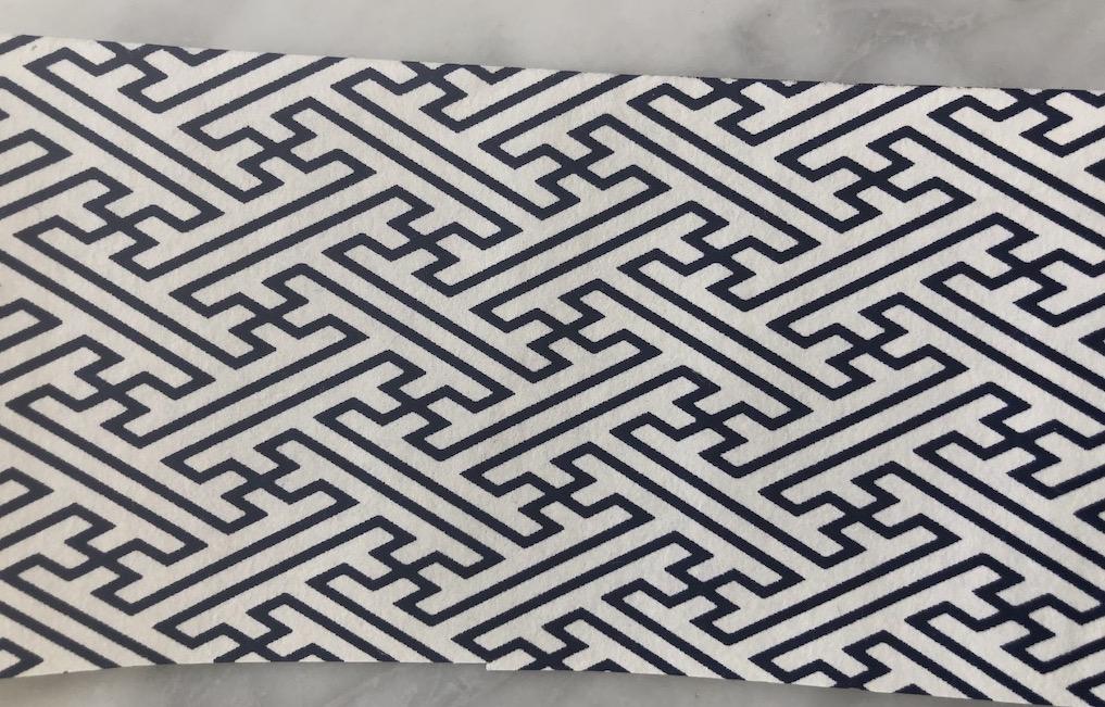 papier japonais bleu et blanc