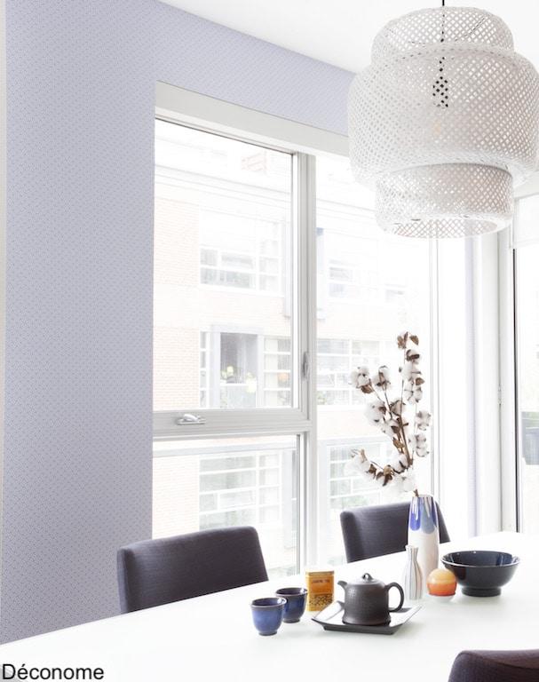 peindre luminaire bambou en blanc salle à manger style japonais