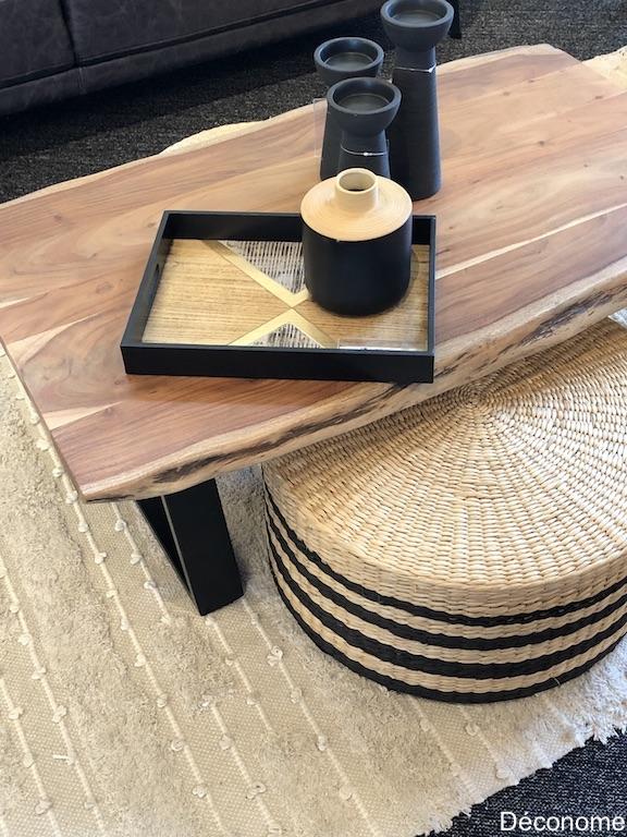 tapis table en bois et accessoires brault & Martineau