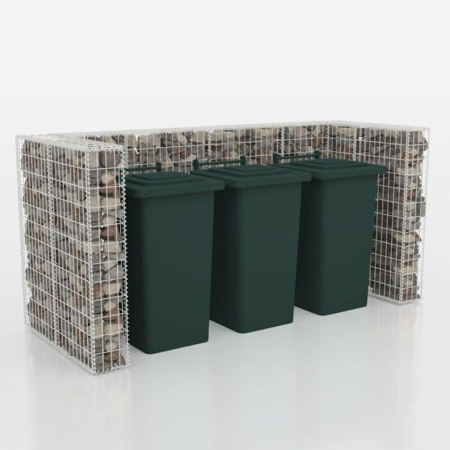 cadre de poubelles en gabion