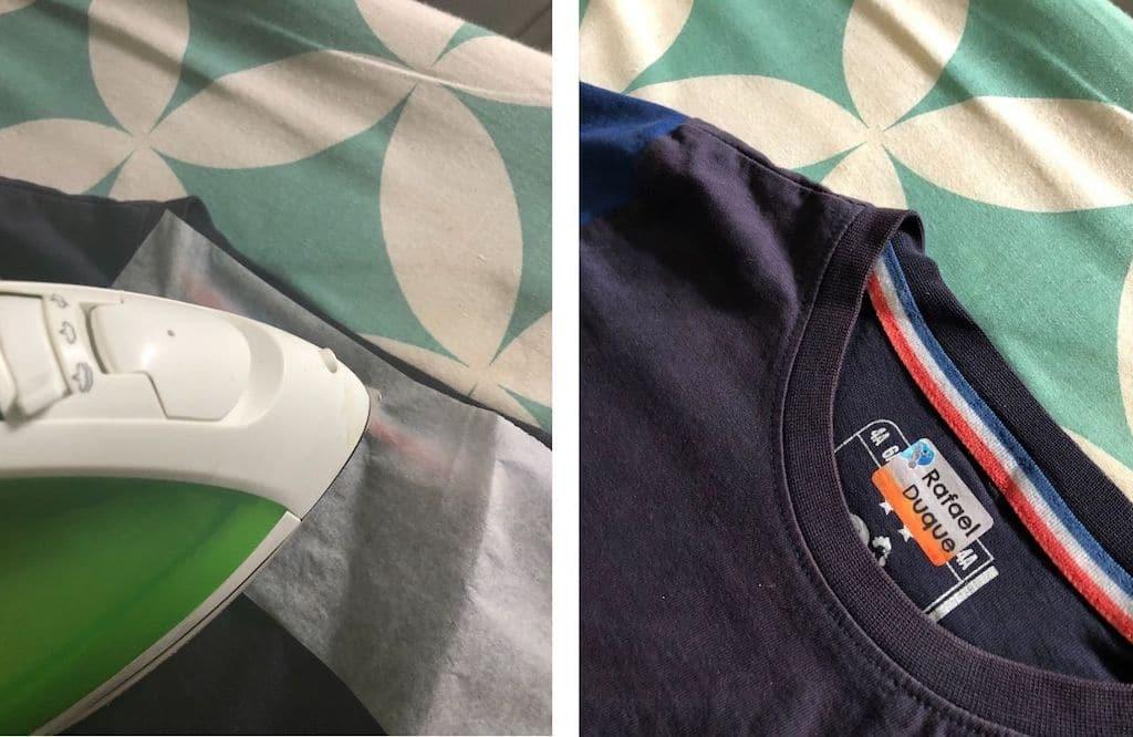 étiquettes thermocollantes identification vêtements