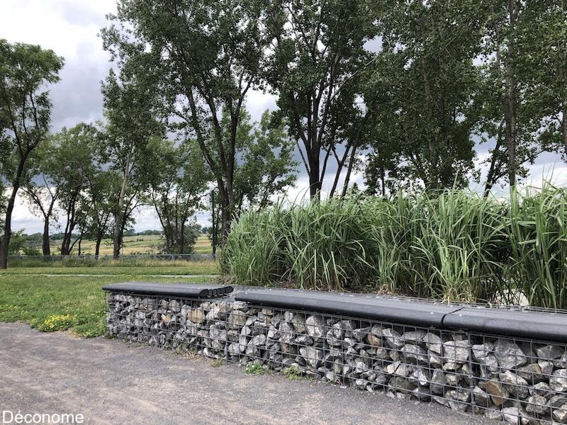 banc en gabion / bench